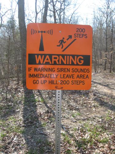 Johnson's Shut-Ins - warning sign