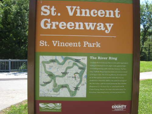 St Vincent Park Greenway sign