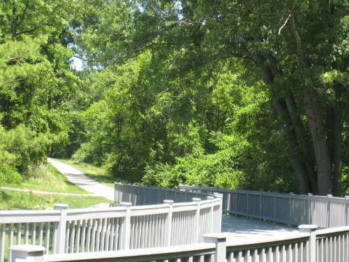 St. Vincent Park greenway trail