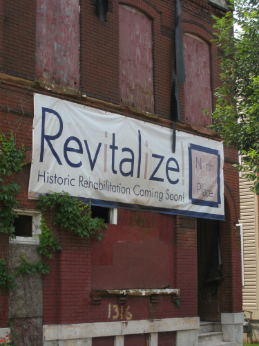 Old North Revitalize sign