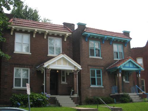 Shaw Neighborhood home - twin exteriors