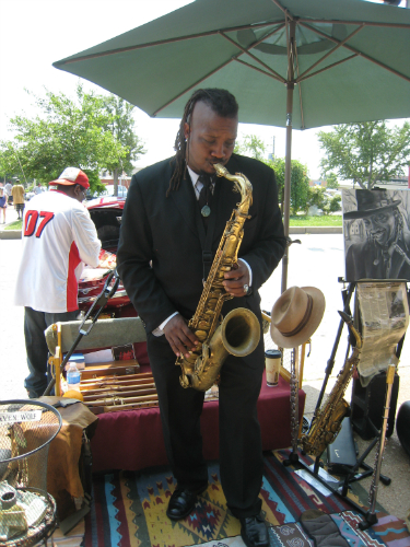 Soulard Farmer Market - jazz musician