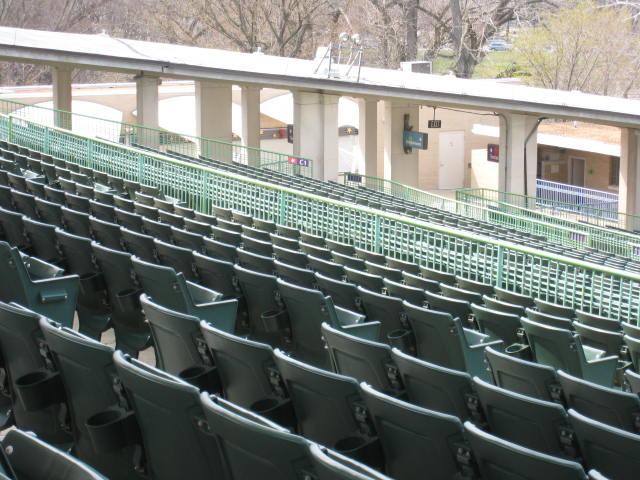 The Muny Theater empty seats