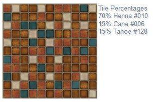 Oceanside back splash tile custom blend