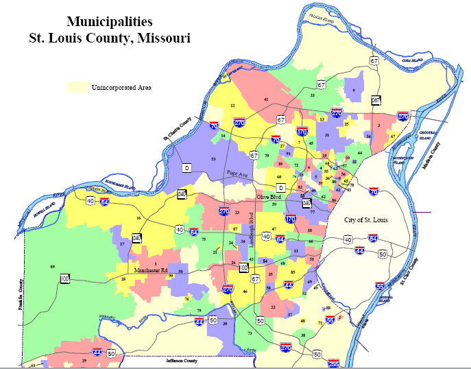 Map Of St Louis County | compressportnederland