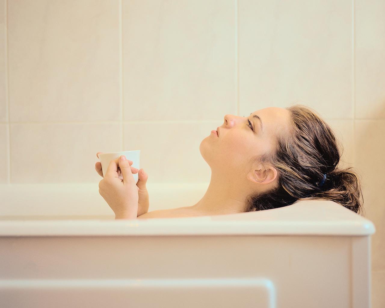 Woman in a bathtub