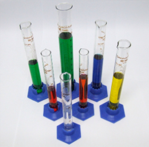 Science test tubes with chemicals