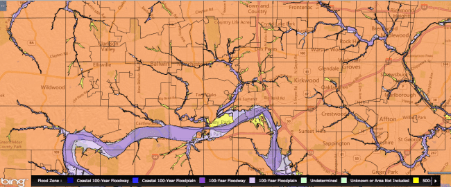 St. Louis flood zone map | Arch City Homes