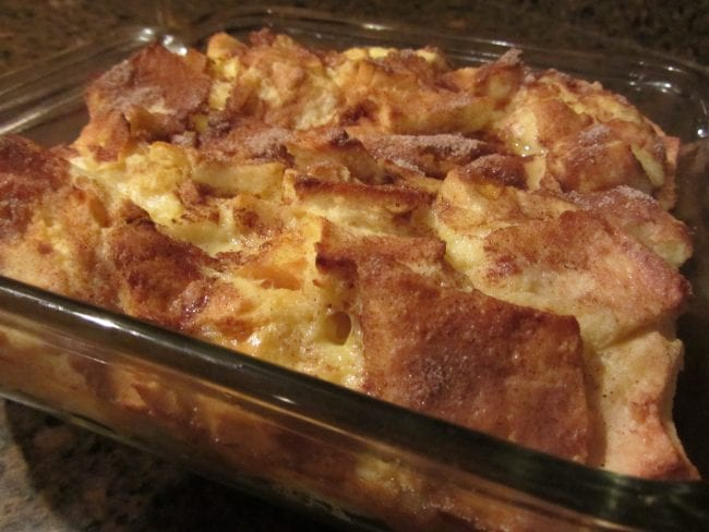 French toast casserole for snow days in St. Louis MO