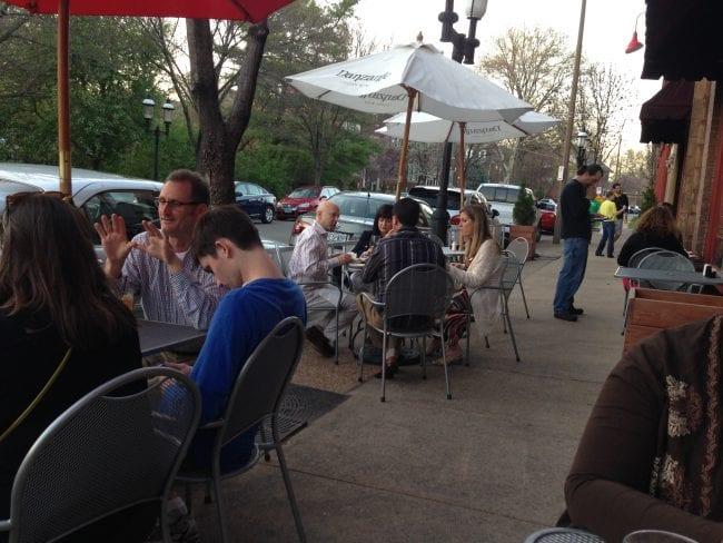 Sidewalk dinner in city neighborhood | Arch City Homes