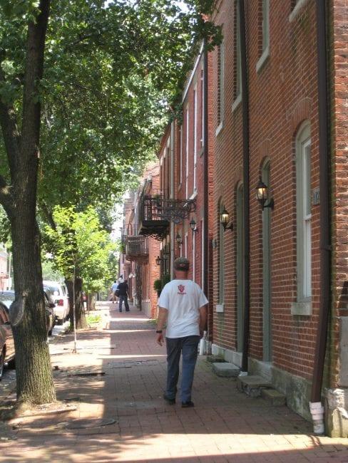 Man walking in neighborhood | Arch City Homes
