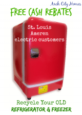 Free Cash Rebates in St. Louis ~ Recycle Your Old Refrigerator & Freezer