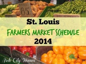 St. Louis Farmers Market Schedule 2014