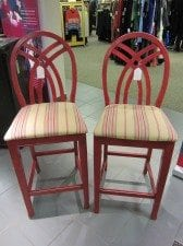 NCJW Resale Shop - red bar stools