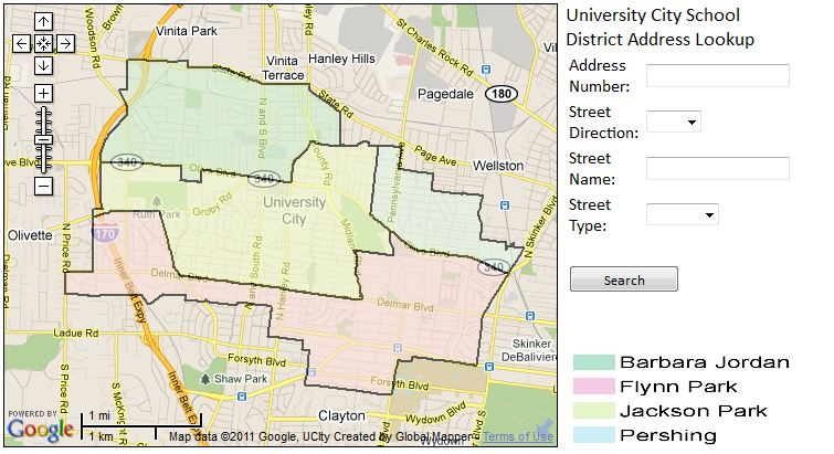 University City - Elem school boundaries