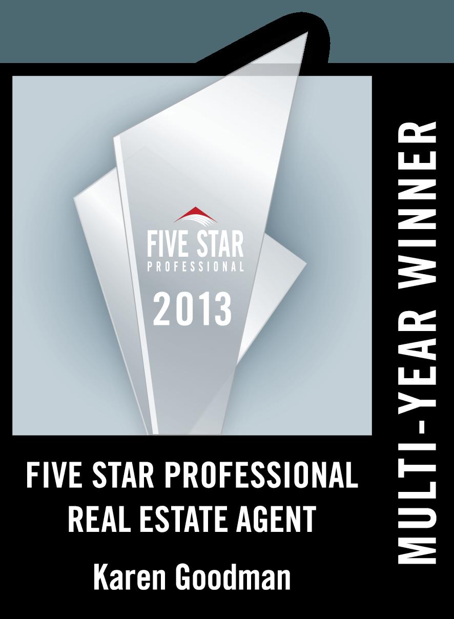 Karen Goodman Awarded 2013 St. Louis Real Estate FIVE STAR Award