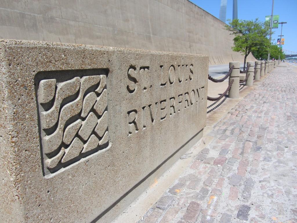 St. Louis Riverfront sign