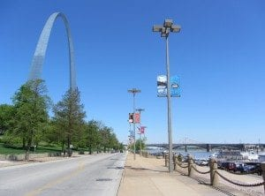 St. Louis Arch and riverfront