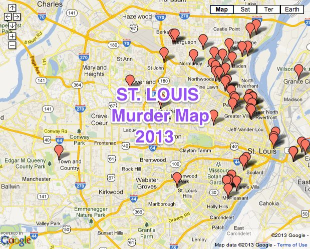 St. Louis Area Murder Map