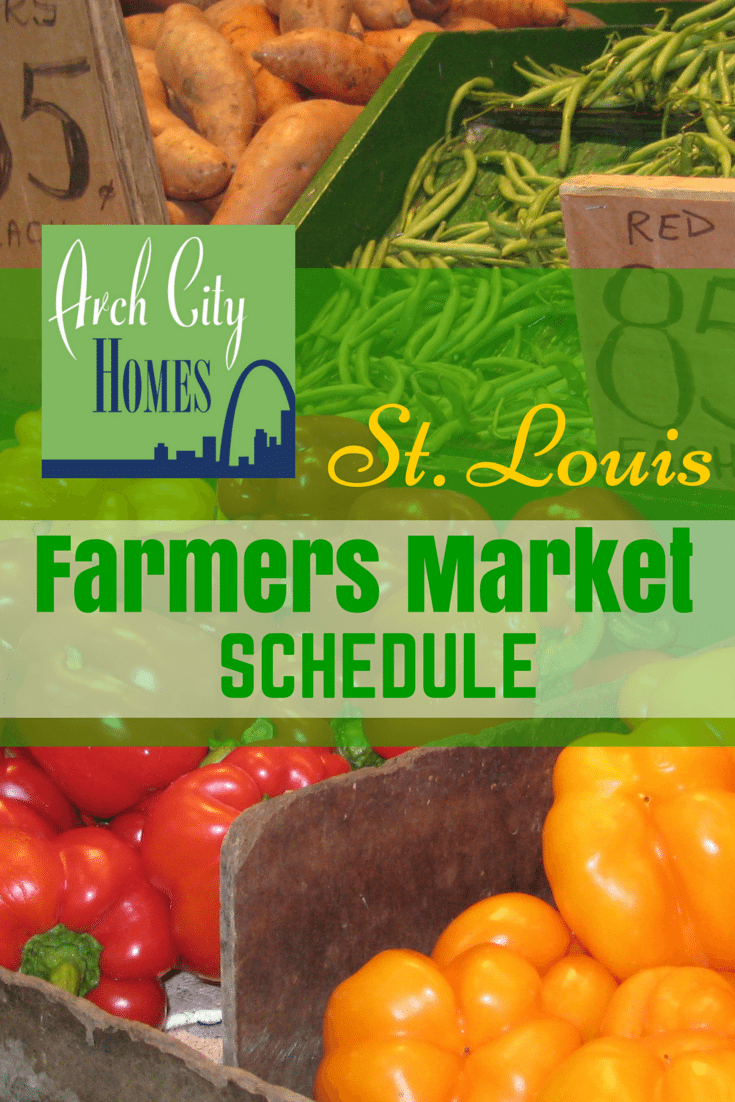 St. Louis Farmers Market Schedule
