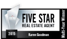 St. Louis FIVE STAR Real Estage Agent Award winner - Karen Goodman