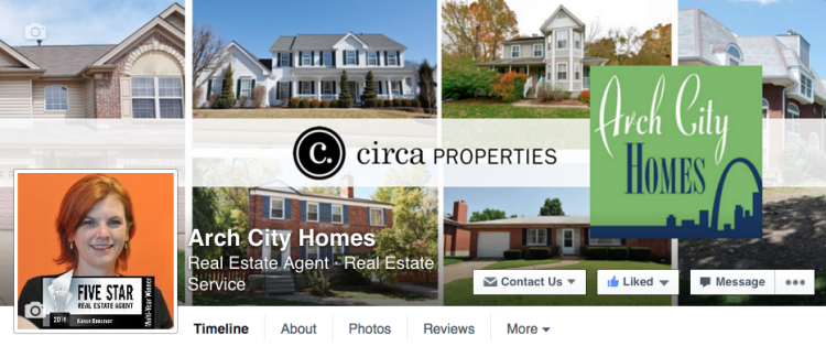 Let's Connect on Social Media - Facebook Arch City Homes page