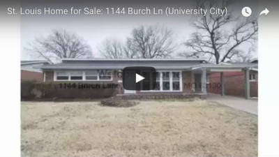 Home for Sale: 1144 Burch Ln, University City MO | Arch City Homes